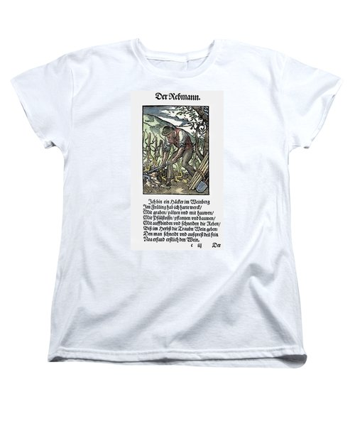Women's T-Shirt (Standard Cut) featuring the painting Vinegrower, 1568 by Granger