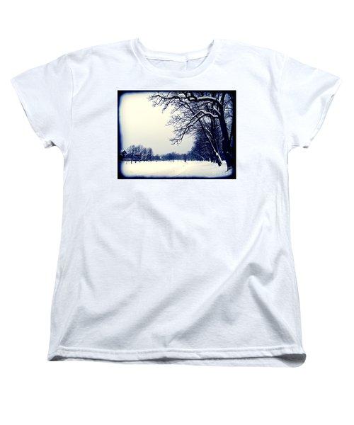 Winter Women's T-Shirt (Standard Cut) by Nina Ficur Feenan