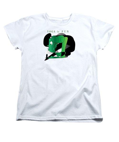 Women's T-Shirt (Standard Cut) featuring the digital art Yoga by Iris Gelbart