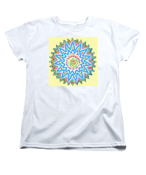 Colorful Signature Art Chakra Round Mandala By Navinjoshi At Fineartamerica.com Rare Fineart Images  Women's T-Shirt (Standard Cut) by Navin Joshi