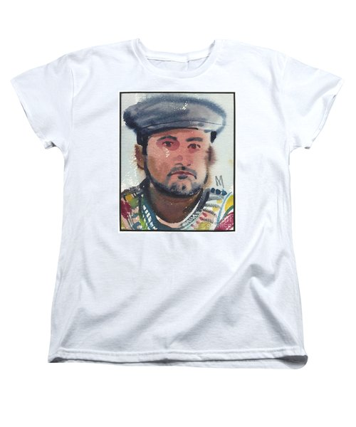 Women's T-Shirt (Standard Cut) featuring the painting Emilio by Donald Maier