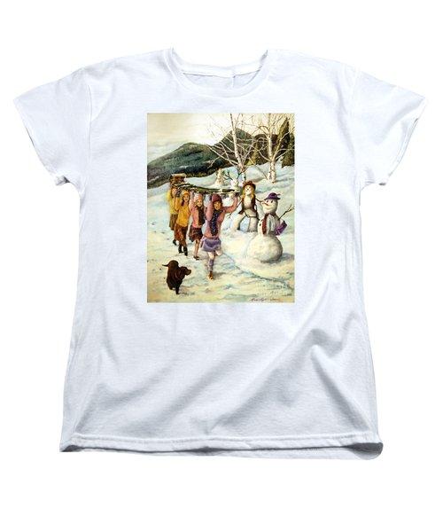 Frosty Frolic Women's T-Shirt (Standard Cut)