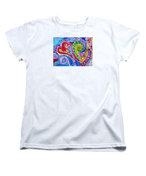 Love Is In The Air Women's T-Shirt (Standard Cut) by Sandra Lira
