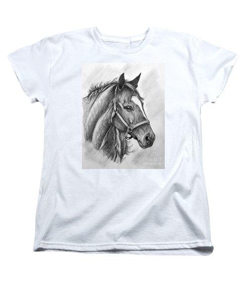Women's T-Shirt (Standard Cut) featuring the drawing Zenyatta by Patrice Torrillo