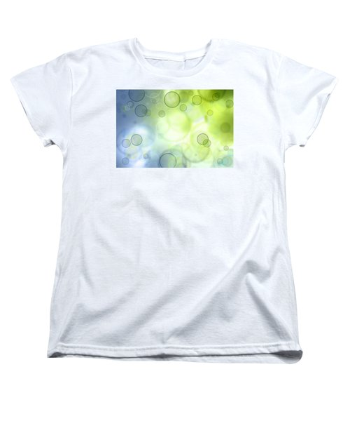 Abstract Background Women's T-Shirt (Standard Cut) by Les Cunliffe
