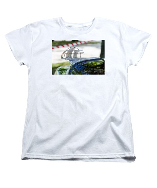 Women's T-Shirt (Standard Cut) featuring the photograph '34 Plymouth Sedan Hood Ornament by Paul Mashburn