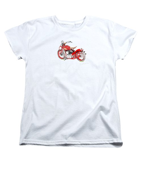 37 Chief Bobber Women's T-Shirt (Standard Cut) by Terry Frederick