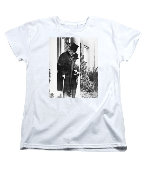 Women's T-Shirt (Standard Cut) featuring the photograph Woodrow Wilson (1856-1924) by Granger