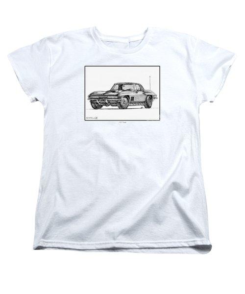 1967 Corvette Women's T-Shirt (Standard Cut) by J McCombie