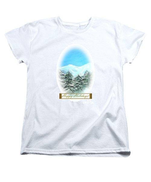 Happy Holidays. Best Christmas Gift Women's T-Shirt (Standard Cut)