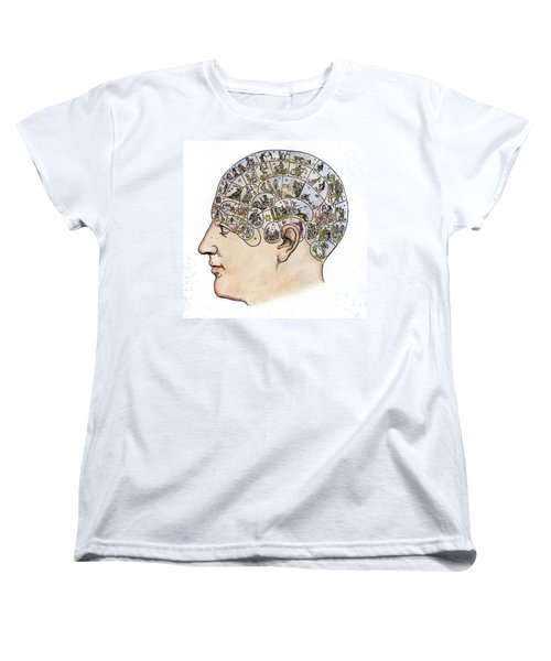 Women's T-Shirt (Standard Cut) featuring the painting Phrenology, 19th Century by Granger