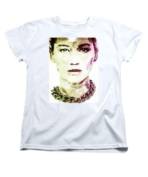 Jennifer Lawrence Women's T-Shirt (Standard Cut) by Svelby Art