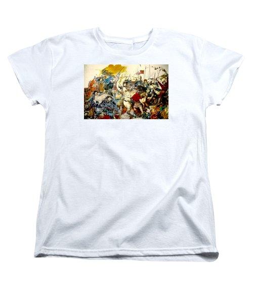 Battle Of Grunwald Women's T-Shirt (Standard Cut) by Henryk Gorecki