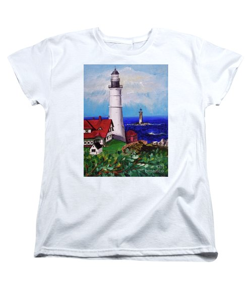 Lighthouse Hill Women's T-Shirt (Standard Cut) by Linda Simon