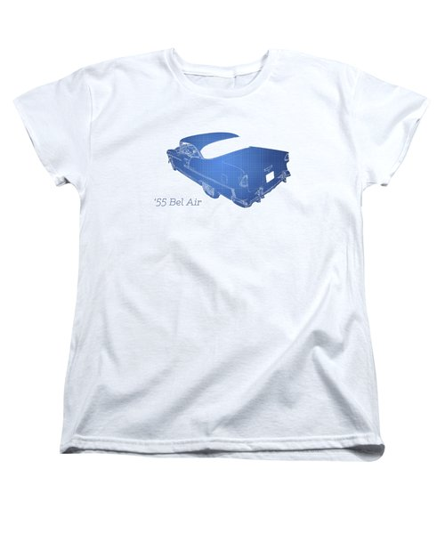 Old Cars Women's T-Shirt (Standard Cut) featuring the photograph '55 Bel Air by Aaron Berg
