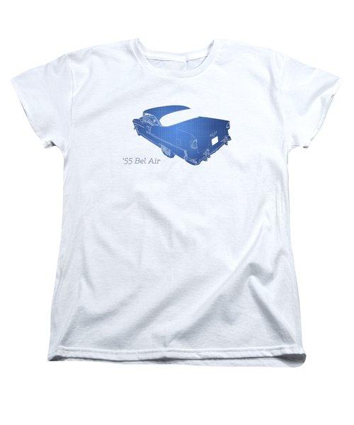 Vintage Car Women's T-Shirt (Standard Cut) featuring the photograph '55 Bel Air by Aaron Berg