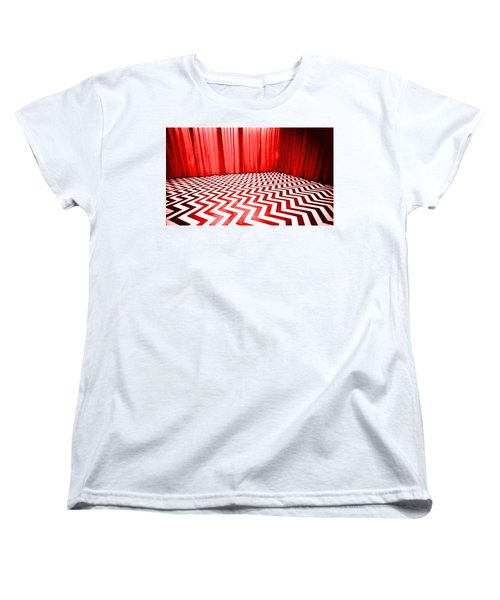 Women's T-Shirt (Standard Cut) featuring the painting Black Lodge by Luis Ludzska