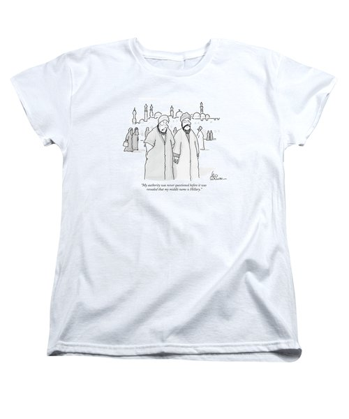 My Authority Was Never Questioned Women's T-Shirt (Standard Cut) by Leo Cullum