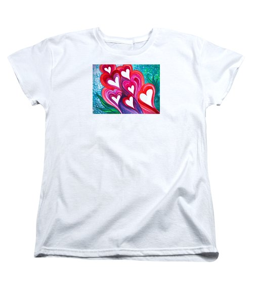 Women's T-Shirt (Standard Cut) featuring the photograph 7 Hearts by Adria Trail