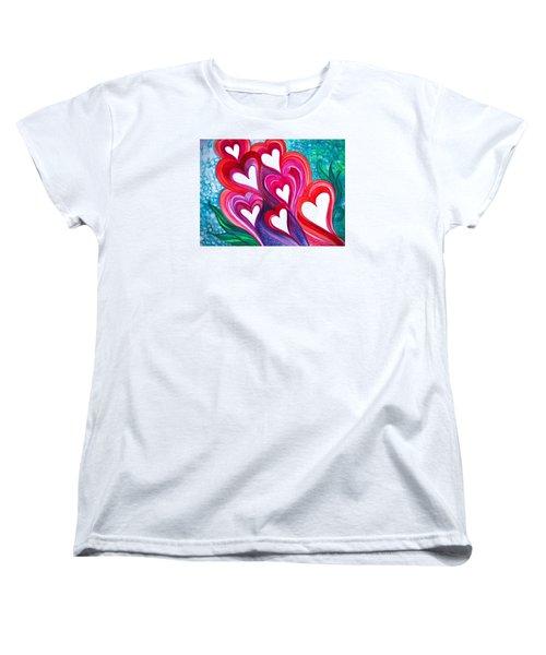 7 Hearts Women's T-Shirt (Standard Cut) by Adria Trail