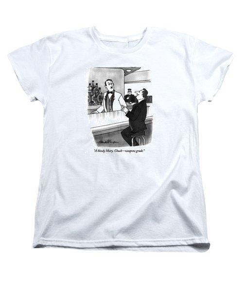 A Bloody Mary Women's T-Shirt (Standard Cut) by J.B. Handelsman