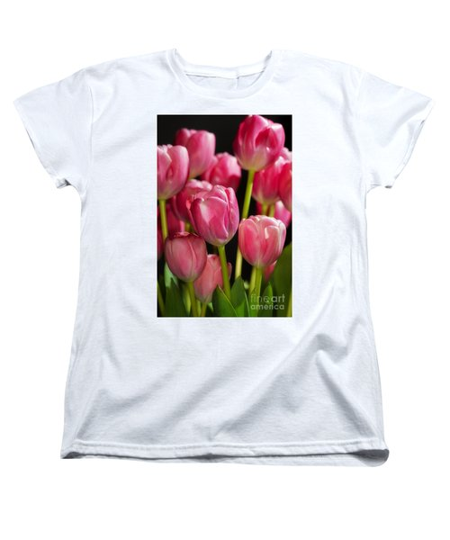 A Bouquet Of Pink Tulips Women's T-Shirt (Standard Cut) by Nick  Biemans