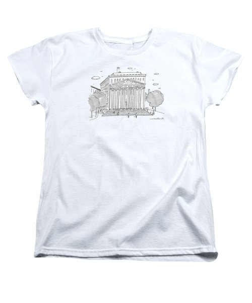A Building In Washington Dc Is Shown Women's T-Shirt (Standard Cut) by Michael Crawford
