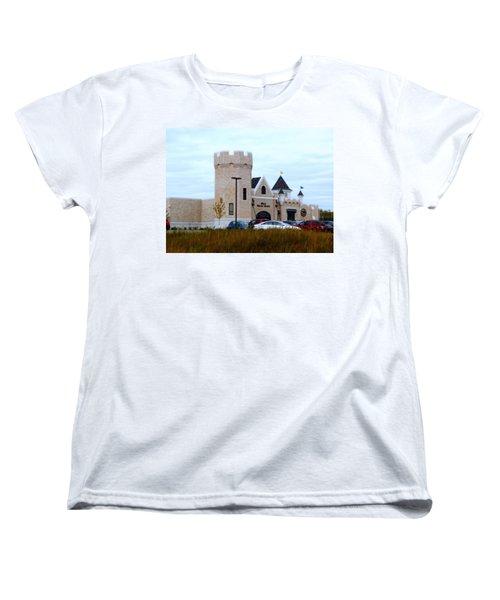 A Cheese Castle Women's T-Shirt (Standard Cut) by Kay Novy
