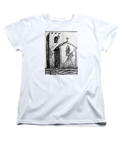 Women's T-Shirt (Standard Cut) featuring the painting Old Church by Salman Ravish