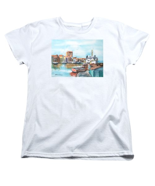 A Curacao Morning Women's T-Shirt (Standard Cut) by Debbie Lewis