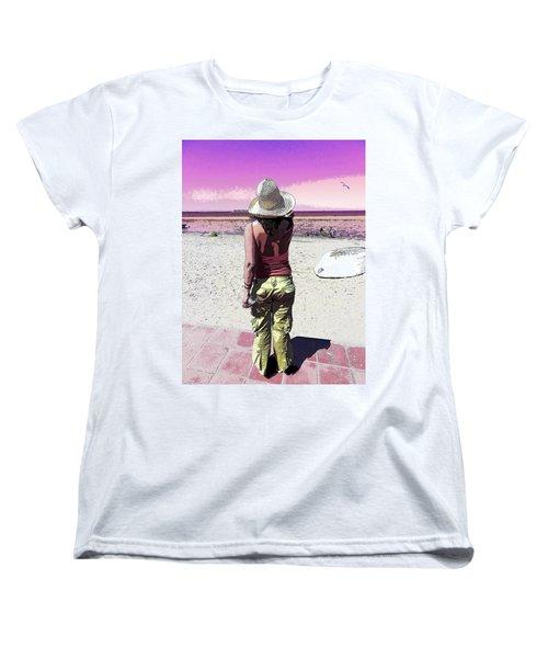 A Day At The Beach Women's T-Shirt (Standard Cut) by Anne Mott