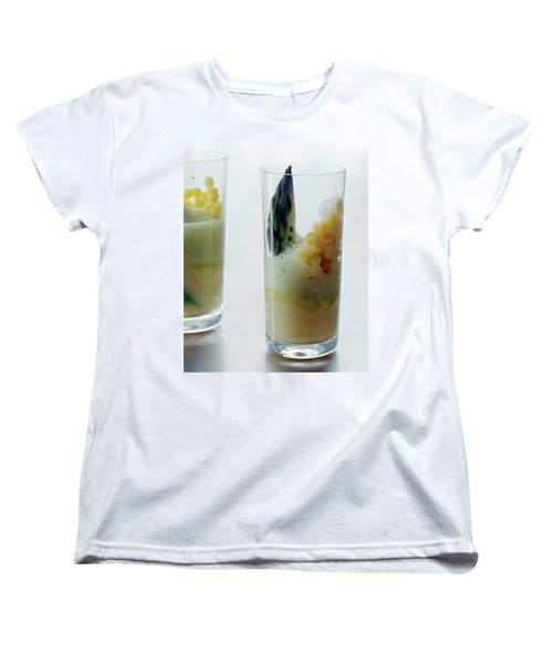 A Drink With Asparagus Women's T-Shirt (Standard Cut) by Romulo Yanes