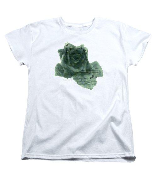 Women's T-Shirt (Standard Cut) featuring the photograph A Little Bird Whispered To Me Digital Rose  by Sandra Foster