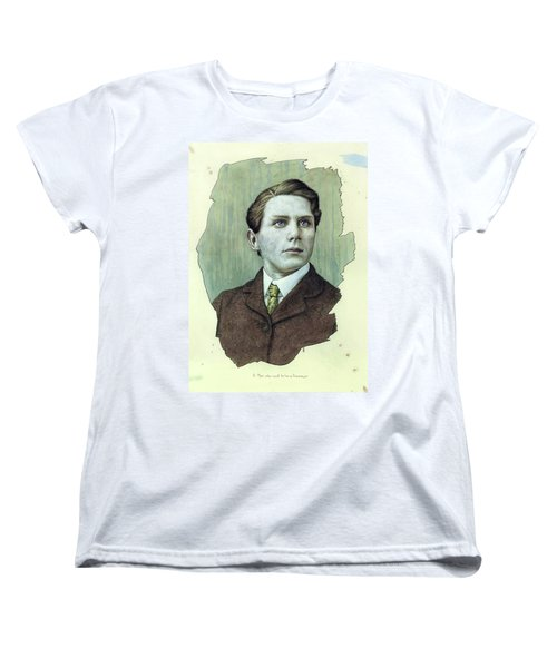 Women's T-Shirt (Standard Cut) featuring the painting A Man Who Used To Be A Dreamer by James W Johnson