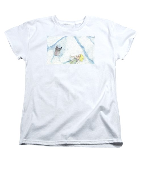 Women's T-Shirt (Standard Cut) featuring the drawing A Mermaids Moment by Kim Pate