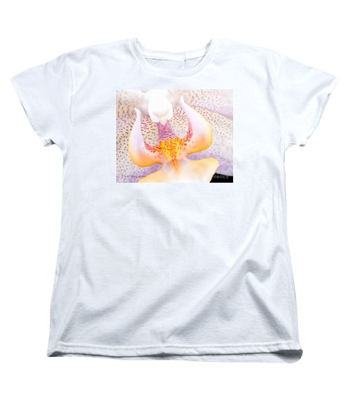 A Neighbors Orchid Women's T-Shirt (Standard Cut) by David Perry Lawrence
