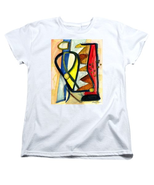 Women's T-Shirt (Standard Cut) featuring the painting A Perfect Image by Stephen Lucas