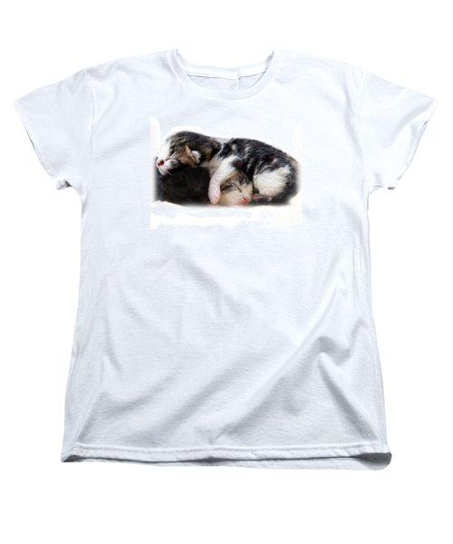 Women's T-Shirt (Standard Cut) featuring the photograph A Pile Of Pussies by Linsey Williams