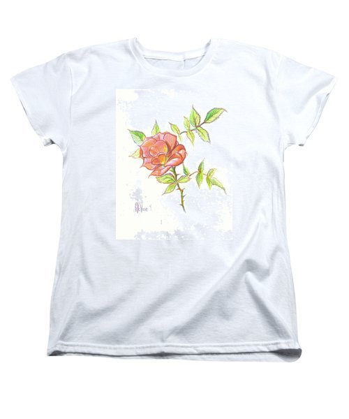 A Rose In Brigadoon Women's T-Shirt (Standard Cut) by Kip DeVore