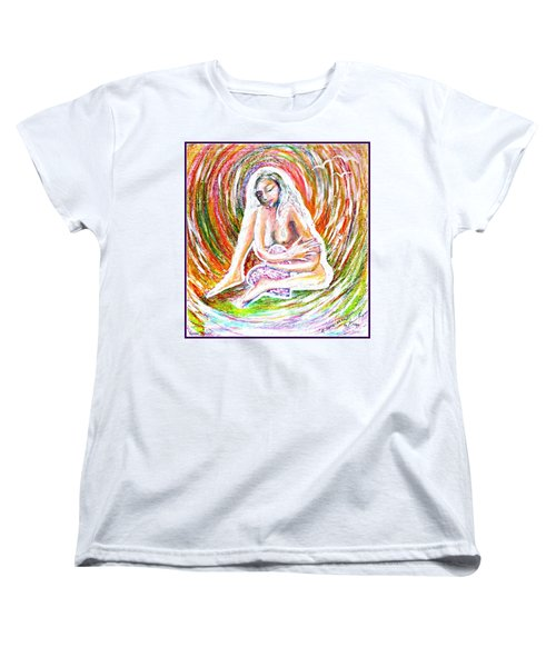 Women's T-Shirt (Standard Cut) featuring the mixed media A Safe Heart by Leanne Seymour