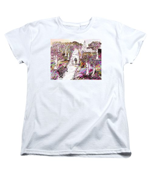 A Stroll In Autumn Women's T-Shirt (Standard Cut) by Loredana Messina