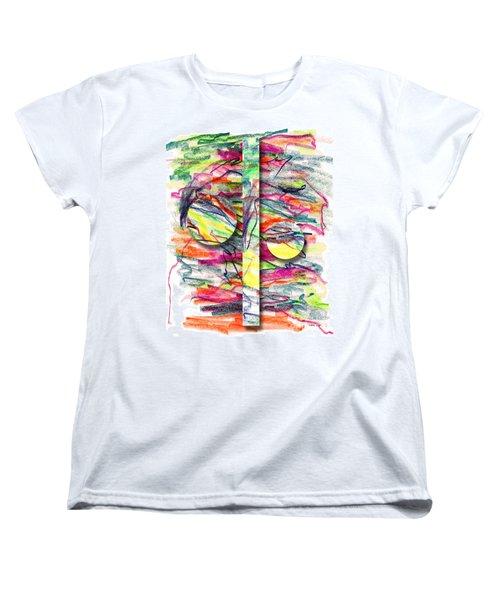 Women's T-Shirt (Standard Cut) featuring the drawing A Summers Day Breeze by Peter Piatt
