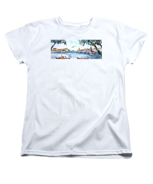 A View Of The Historical Peninsula From Uskudar - Istanbul Women's T-Shirt (Standard Cut) by Faruk Koksal