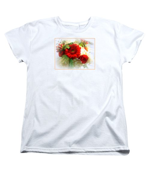 A Vision In Red Women's T-Shirt (Standard Cut) by Dora Sofia Caputo Photographic Art and Design