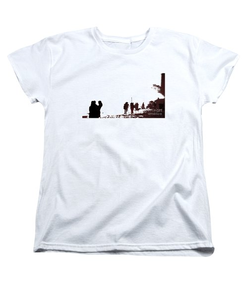 A Walk On The Beach Women's T-Shirt (Standard Cut) by Gary Smith