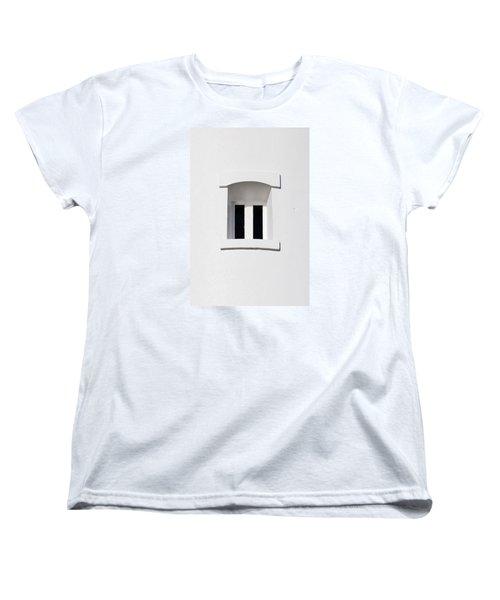 A Window In White Women's T-Shirt (Standard Cut) by Wendy Wilton