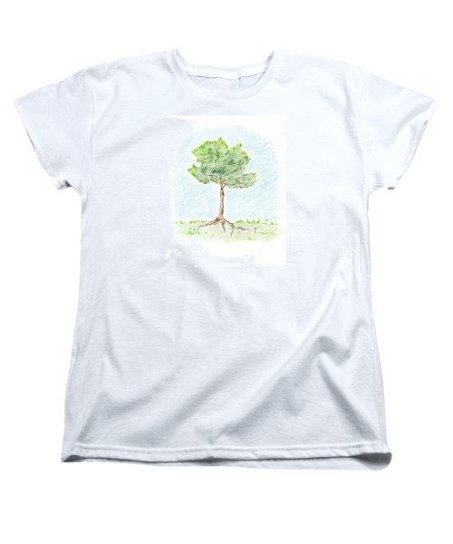 A Young Tree Women's T-Shirt (Standard Cut) by Keiko Katsuta