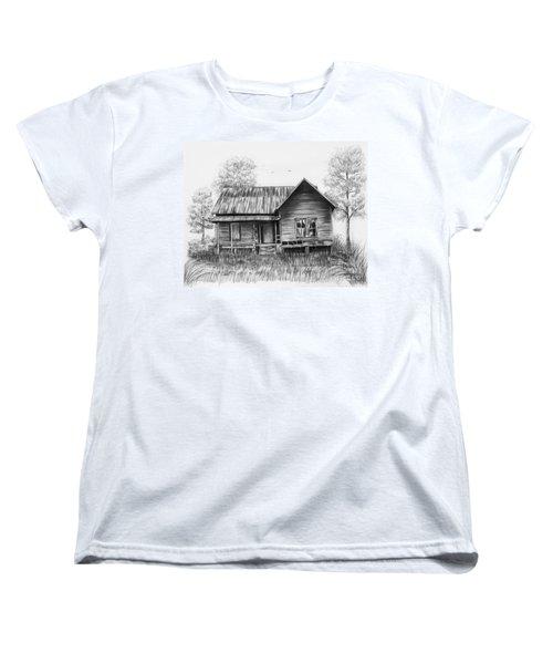 Abandoned House Women's T-Shirt (Standard Cut) by Lena Auxier