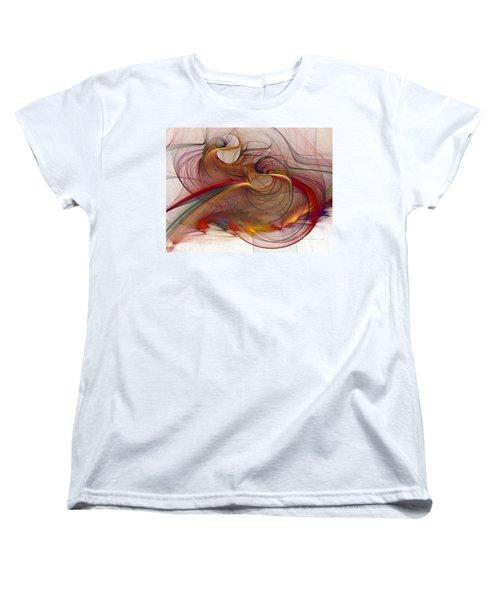 Abstract Art Print Inflammable Matter Women's T-Shirt (Standard Cut) by Karin Kuhlmann