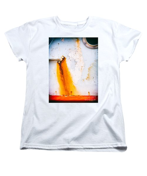 Women's T-Shirt (Standard Cut) featuring the photograph Abstract Boat Detail by Silvia Ganora